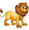 Cartoon strong lion vector