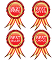 Best seller medals vector