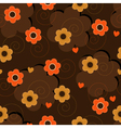 Flower background with hearts vector