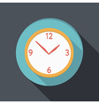Flat icon with a shadow clock vector