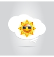Sun in white cloud vector