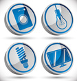 Household appliances icons set 3 vector