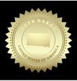 Gold star label south dakota vector
