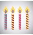 Candles design vector