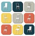 Chair icon set symbol furniture vector