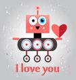 Robot in love funny vector