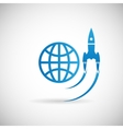 New business project startup symbol rocket space vector