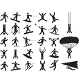 Pictogram people doing extreme sports vector