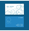Abstract blue circles horizontal corner frame vector