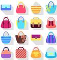 Collection of retro woman bags vector