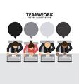 Teamwork design vector