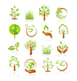 Set of nature icons vector