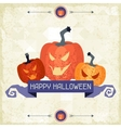 Happy halloween grungy retro background vector