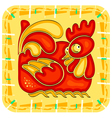 Chinese horoscope year of the rooster vector