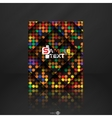 Abstract colorful mosaic pattern design vector