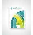 Magazine or brochure template design vector