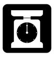 Kitchen scales button vector