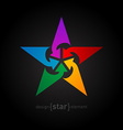 Star with arrows abstract design element vector
