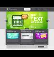 Website design template vector