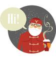 Santa claus hipster vector