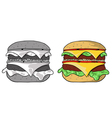Big hamburger vector