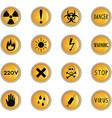 Danger theme icons vector