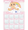 Cute monthly baby calendar for 2013 vector