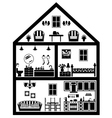 Icon of house with planning vector