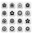 Flower head buttons set vector