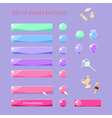 Candy buttons vector