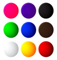 Colorful balls web button icon on white background vector