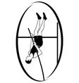 Athletics pole vaulting vector