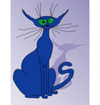 Blue cat sitting vector