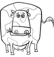 Cow farm animal coloring page vector