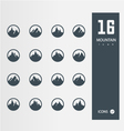 Mountain icons set of 16 quality icons vector
