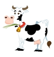 Adorable cow vector