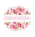 Luxurious color peony label vector