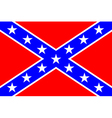 Flag of the confederate states of america vector