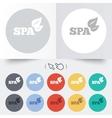 Spa sign icon spa leaves symbol vector