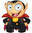 Vampire mascot hands on hips vector