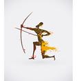 African hunter tribal vector