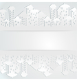 Abstract background with buildings vector