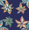 Floral pattern with colorful blooming flowers vector