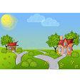 Background cartoon house vector