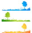 Set of colored trees vector