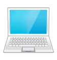 Isolated white laptop vector