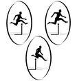 Athletics running hurdles vector