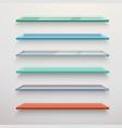 Glass shelves set vector