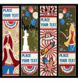 American patriotic vertical banners vector