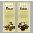 Beer menu design vector